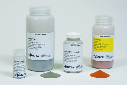 Welding powders and pastes
